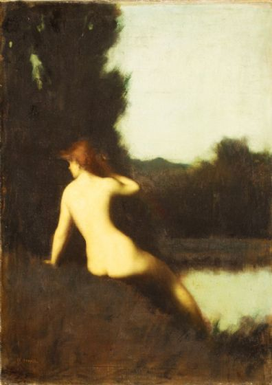 Henner, Jean-Jacques: A Bather (Echo). Fine Art Print/Poster (5242)